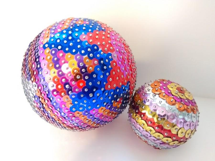Ejemplos bolas de porex navideñas