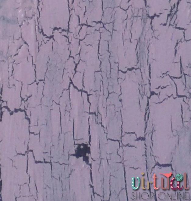 foto en el que se ve como queda un craquelado realizado con un monocomponente dado con paletina