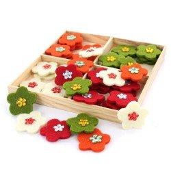 flores de fieltro surtido 48 flores
