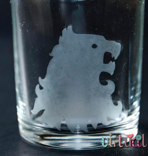 Chupito grabado con ácido