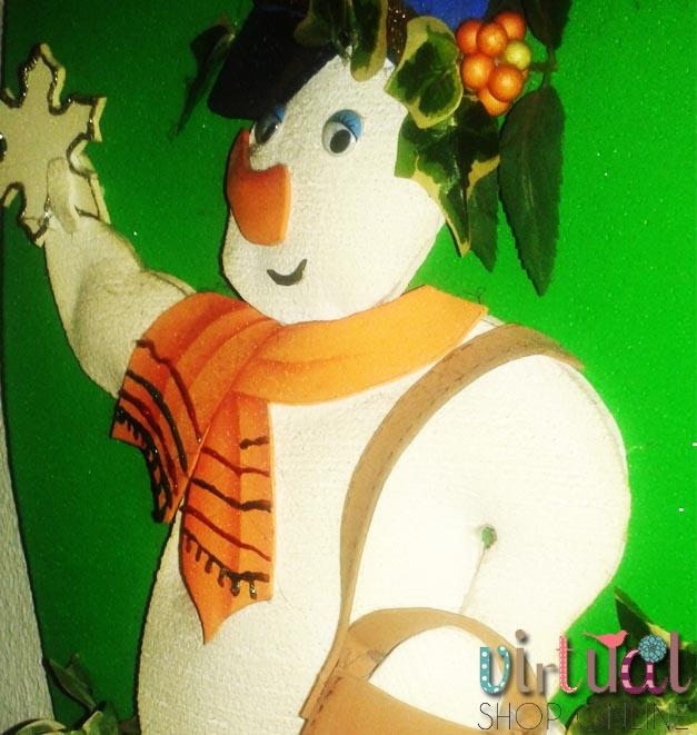 Goma E.V.A. muñeco de nieve con foamy